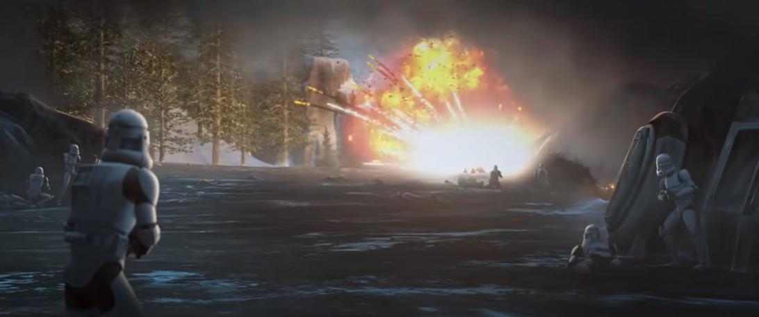 Star Wars: The Bad Batch explosion