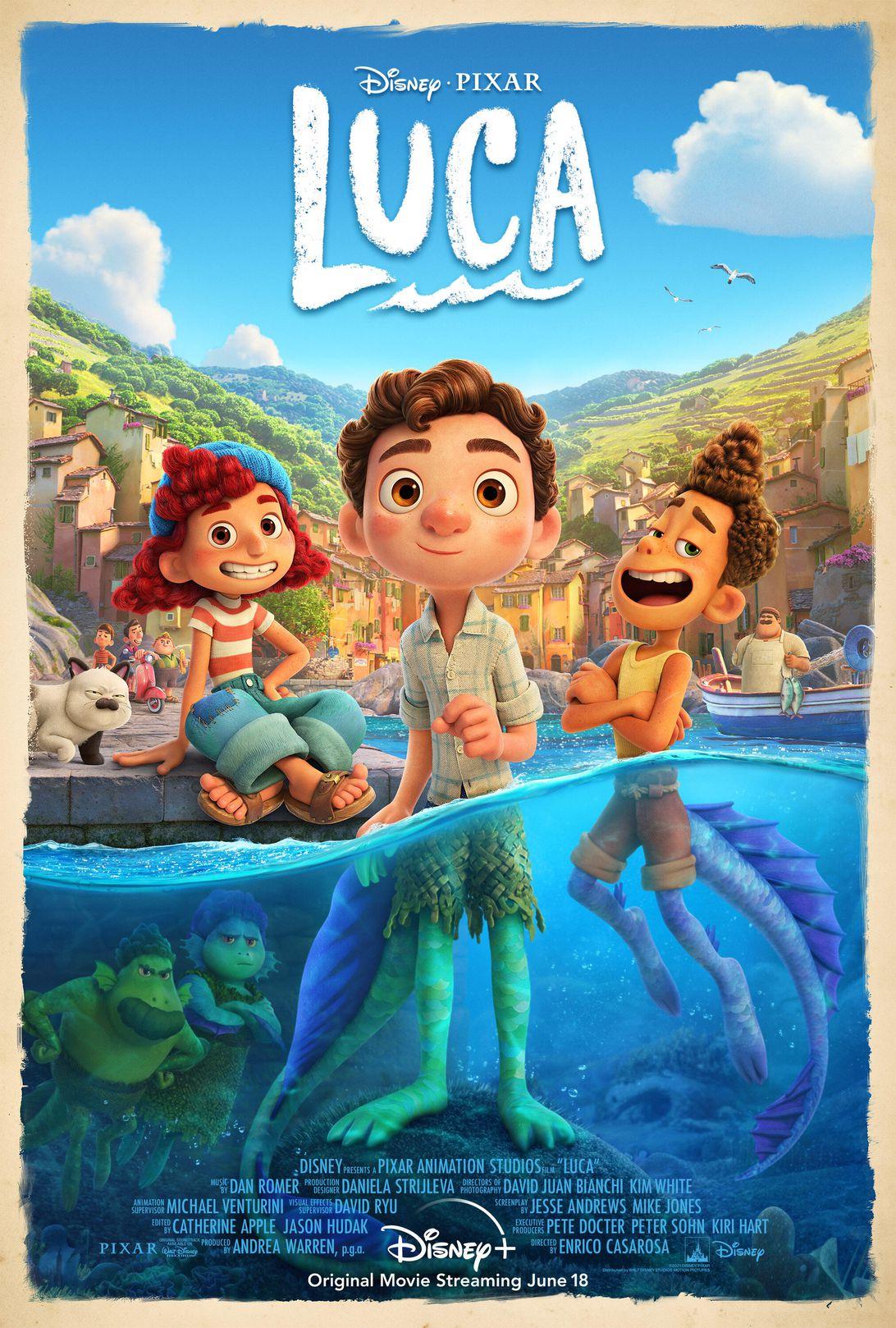 Pixar Luca poster